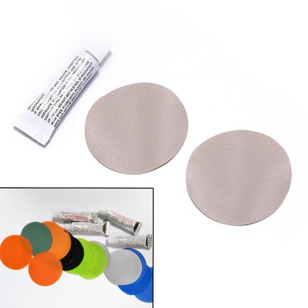 1 * Kleber Schwimmen mit 2 Kreis Patch PVC Klebstoff Aufblasbare Reparatur Kleber Rohr Patch Kit für Boot Pool Yoga Ball schwimmen ring spielzeug