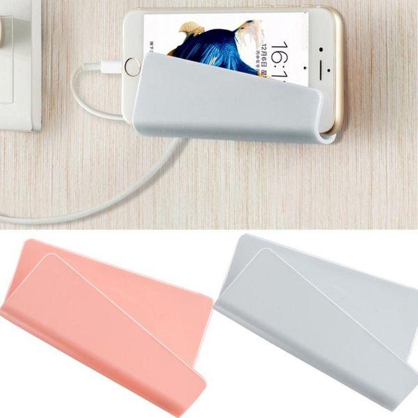 Handy-Wand-Ladegerät, das Halter-Stand-Haltewinkel-Unterstützungsgebühr-Aufhänger-Gestell-Regal-Handy-Haken mit Kleinpaket hängt