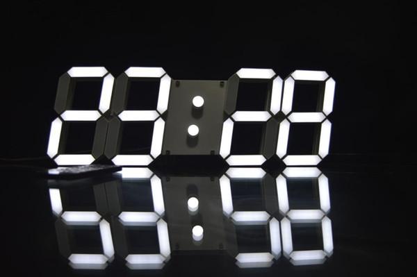 Venta al por mayor Nuevo control remoto caliente LED grande Reloj de pared digital Diseño moderno Decoración para el hogar Decoración 3d