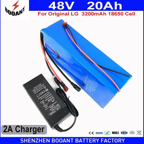 BOOANT 48V 19.2AH 1000W Uso Original LG 18650 bateria Li-ion bateria 48V E-Bike Bateria para Bafang Motor 1000W com 30A BMS
