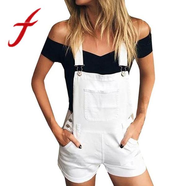 wholesale Short Denim Jumpsuit Women Romper Causal Loose Bib Hole Pants Overalls Jeans Demin Shorts Macacao Feminino Overalls 2018