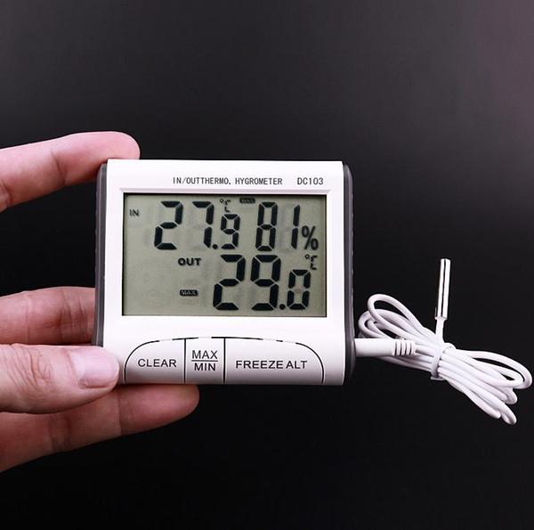 Usage domestique DC103 LCD Digtal Affichage Thermomètre Station Météo Humidité Température Hygromètre Extérieur Intérieur Ménage SN1266