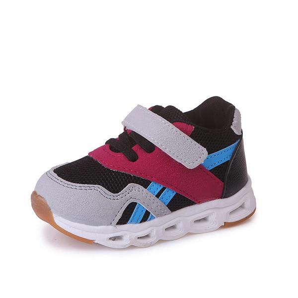 Kalupao 2018 nova marca bonito iluminação led baby shoes venda quente adorável crianças bebê brilhante tênis de alta qualidade legal menino meninas shoes