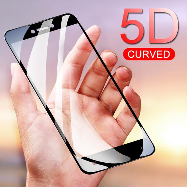 Gnnacn 5d cobertura completa de vidro temperado para xiaomi redmi 5a 5 plus 4x 4a redmi note 5a pro filme protetor de tela de proteção de vidro