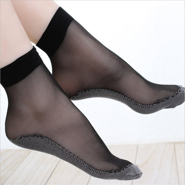 2018 Spring and summer ultra-thin velvet short silk stocks anti-hook silk socks transparent invisible ship socks