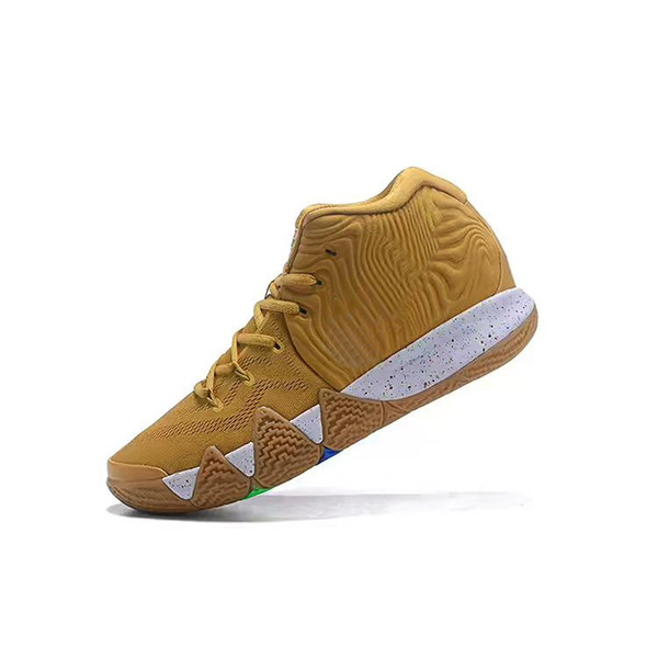 Mens Kyrie Irving IV basketball shoes Cereal White Tan Spinach Green Lucky Charms Halloween College Navy Kyries 4s sneakers tennis with box