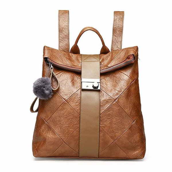 New Backpack Women Handbags Fashion PU Leather College Style Handbags Girls School Shoulder Bag Female Travel Handbags Large Capacity