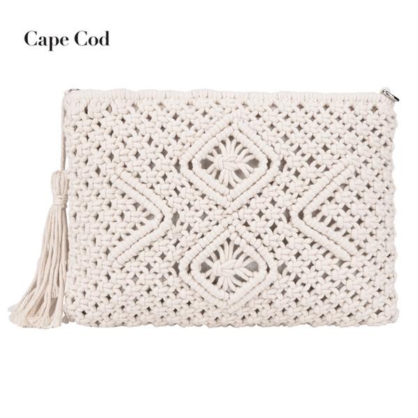 Designer Summer Women's Clutches Female Evening Clutch Bags Woven Bag Mesh Rope Weaving handbags Ladies Bag famous brands sac PJ