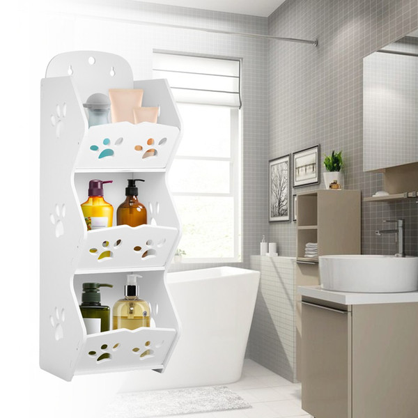 Wall Mounted Bathroom Corner Storage Shelf Sucker Suction Cup Plastic Shower Basket Organizer Washroom Wall Hanging Rack Shower Soap Holder