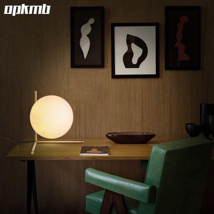 Glass ball table lamp warm white/cool white gold body noridc art desk lamps luminaria de mesa bedside decoration lighting