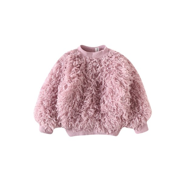 Baby Girls Autumn Winter Tops Warm Sweatshirt Long Sleeve Tassels T Shirts For Girls Thick Cotton Children Clothes