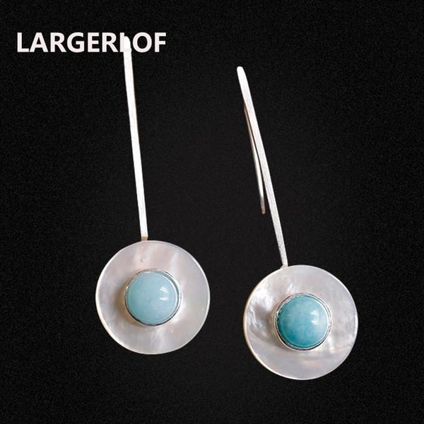 LARGERLOF boucles d'oreilles en argent à la main boucles d'oreilles en cristal Femmes Argent 925 Bijoux 925 Sterling Pour Femmes ED50151