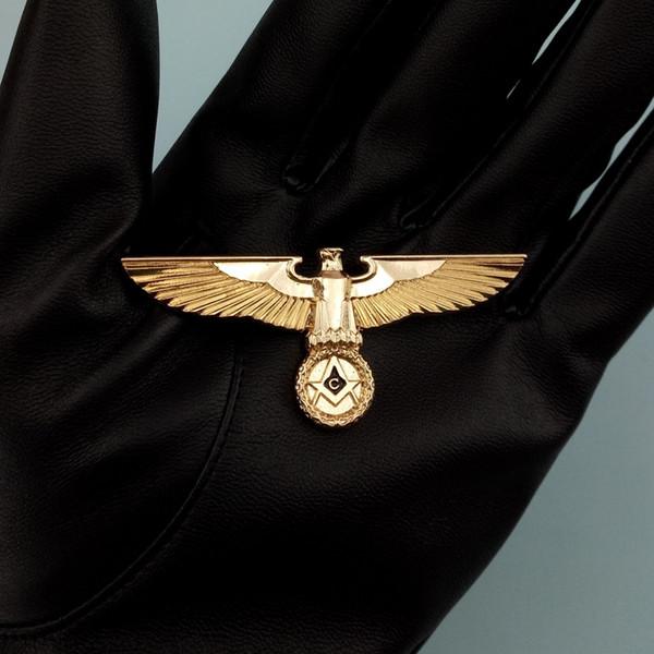 Германия Масонский Значок Pin Немецкий Мейсон Орел Медаль Золотой Металл Европа Масон Броши Творческий Знаки Отличия