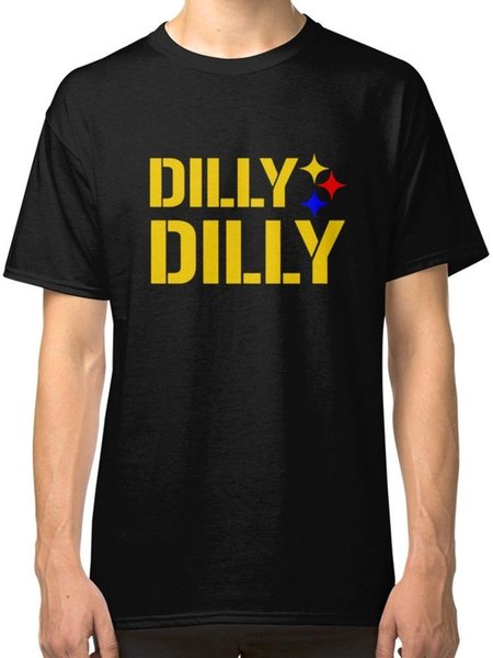 Dilly Dilly Steelers Men/'s Black Tees Shirt Clothing