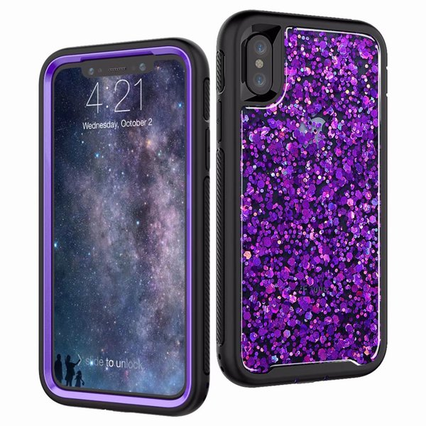 Shiny 2in1 Hybrid Dual Layer Glitter Bing Case For IPhone X 8 8 Plus 7 6 6s  Plus Ballistic Cell Phone Cases Camo Cell Phone Cases From Phone_case2020,