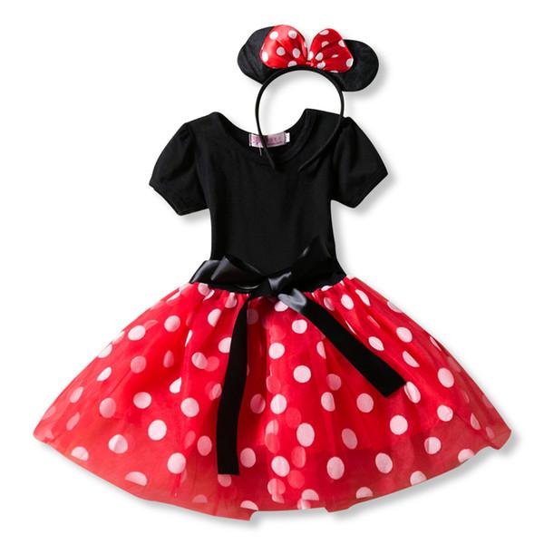 Sevimli Bebek Doğum Günü Elbise Kız Kırmızı Giyim Küçük Prenses Yeni Yıl Giysileri Bebek Bebek Noel Partisi mini Tutu Kıyafeti 0-24 M