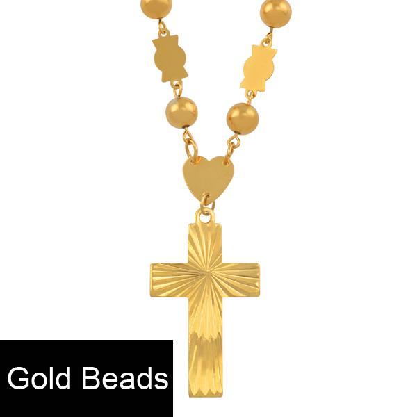 Chaîne en or avec perles de 63 cm