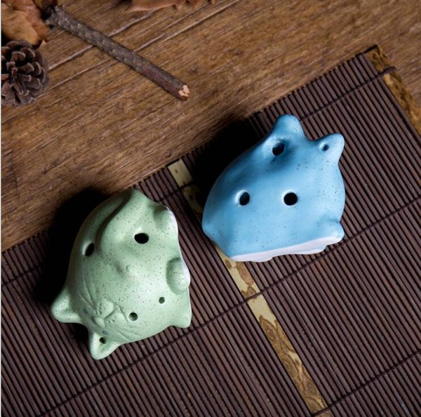 2018 new 6 hole Ocarina Chinese characteristics Cute cat modeling Children's toys National musical instrument