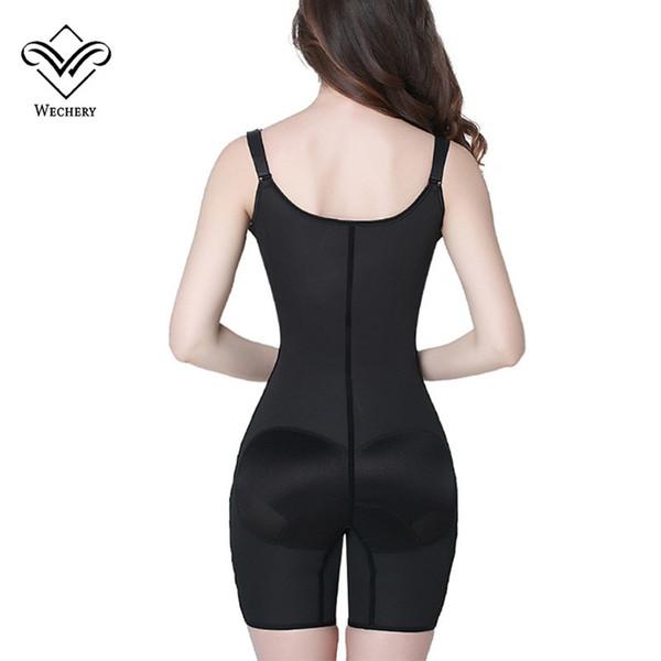 Wechery Latex Taille Trainer Bodysuit Black Butt Lifter Korsett Bauch Abnehmen Mantel Shapers Modellierung Strap Shaperwear Plus Größe