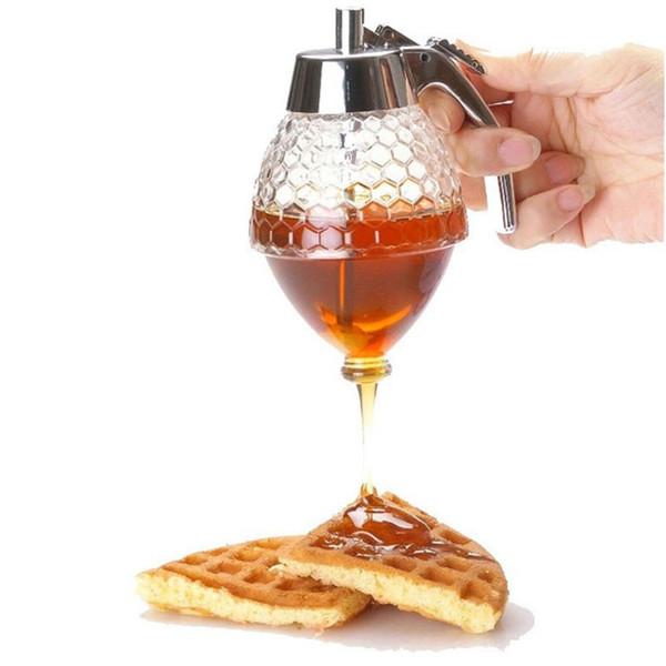 Honig Dispenser Jar Container Tasse Saft Sirup Wasserkocher Küche Bee Drip Ständer Halter Tragbare Lagerung Topf QW8299