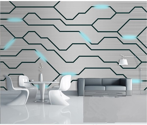 best selling Custom Photo advanced personality wallpaper 3D stereo modern technology circuit board tooling background wall 3d wallpaper