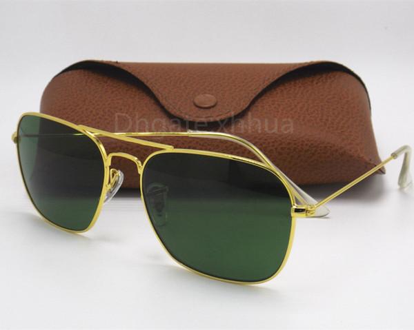 1753010ba0 High Quality Fashion Rectangle Sunglasses For Mens Womens Eyewear Sun  Glasses Black Metal 58mm 3136 Glass