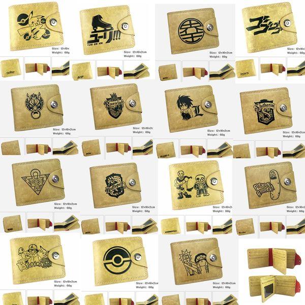 Harry Potter Hufflepuff Geldbörse Slytherin Ravenclaw Geldbörse PU Leder braun Kreditkarte Brieftasche Gryffindor Geldscheinklammer Geldbörse GGA811