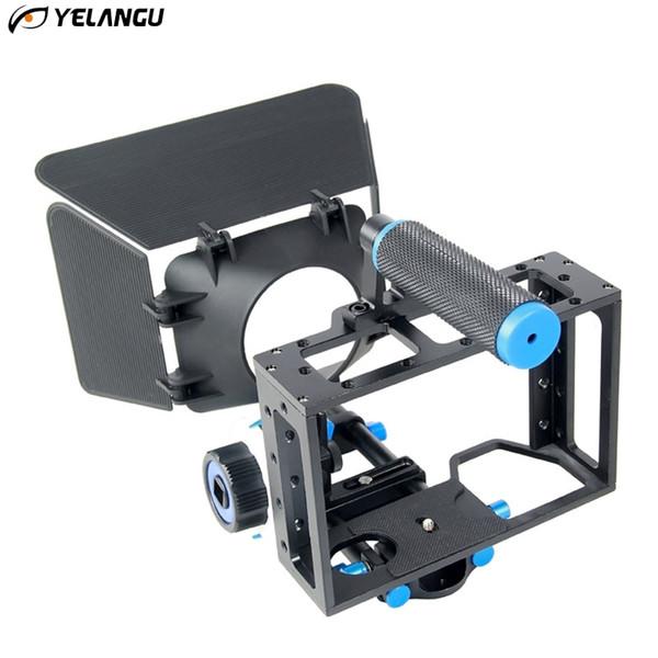 YELANGU Griff DSLR Rig Stabilisator Für Sony A7S A7 A7R A7RII A7SII DLSR Videokamera Käfig Folgen Fokus Matte Box Stabilisator