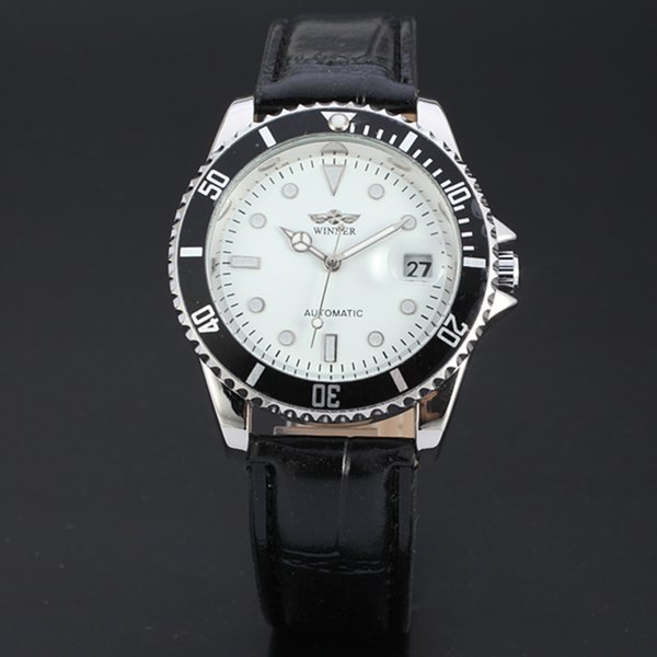 Fashion Vintage Men's Wrist Watch Luxury Mens Automatic Mechanical Watches Male Steel Free Shipping