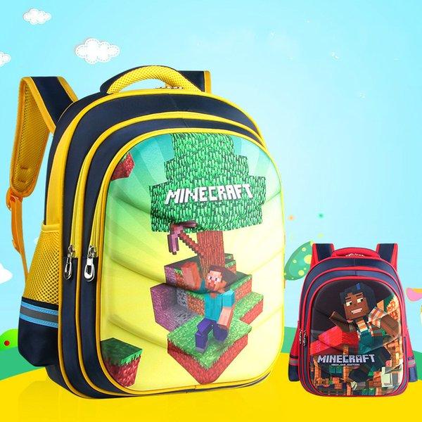 Waterproof Children School Bags For Boys Orthopedic Kids Cartoon primary School Backpacks Schoolbags Kids Mochila Infantil Zip Y18110107