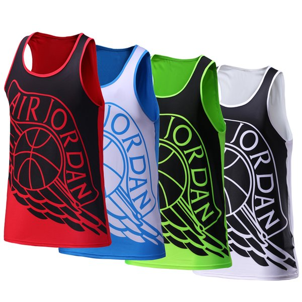 Sports Running Vest Men 2017 High Elastic Quick Dry Training Sleeveless T Shirt Workout Sport Suit Fitness Tights Gym Tank Top