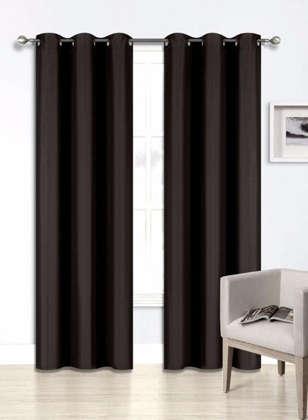 top popular Blackout Curtains Room Darkening Thermal Insulated Grommet Drapes for Bedroom 2 Panel 2021