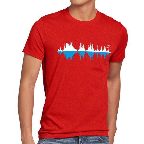 Sheldon Şehir Dalga Herren T-Shirt Müzik Büyük Cooper Teorisi Bang Tbbt Musik Welle T-shirt Erkekler adamın Premium Özel Kısa Kollu Erkek Arkadaşının Büyük