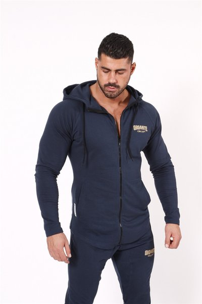 2018 Mens Hoodies Hot Sale Fitness Brand Long Sleeve Bodybulding Shark Zipper Sweatshirts Gyms Muscle Fit Clothes Hooded Jackets
