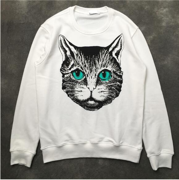 Autumn and winter new cartoon big cat head male and female lovers loaded loose neutral cotton wild turtleneck sweater