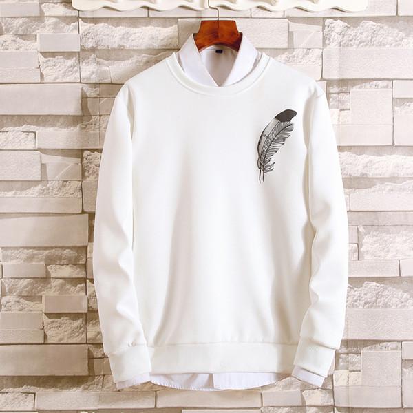 1cfa2d11ae17 Осенний и зимний новый мужской свитер свободный капюшон ретро искусство с  длинными рукавами повседневная рубашка мужское