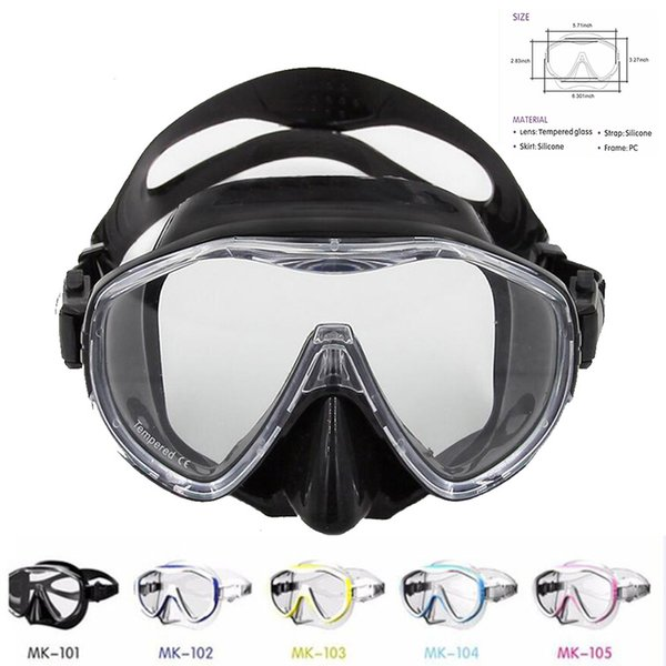 Professional Large Frame Diving Mask Silicone Swimming Glasses Men Women Swim Goggles Mk100 For Spearfishing ,Scuba Gear