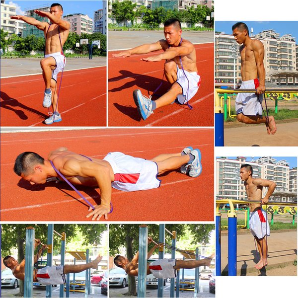 208cm Resistance Band Fitness Cross Fit Loop Bodybulding Yoga Exercise Equipment