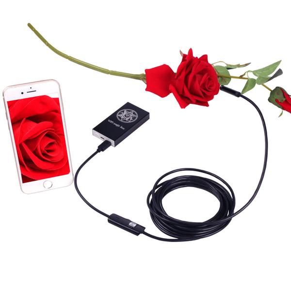 Android IOS эндоскоп камеры Wifi беспроводной эндоскоп змея инспекции видео трубки 8 мм объектив мини WI-FI камеры 2 м кабель