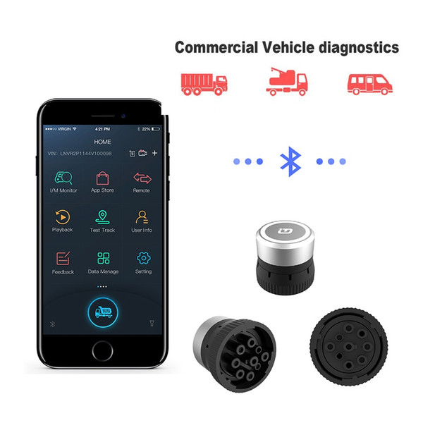 XTUNER CVD-9 CVD-6 Diagnostic Adapter Diesel Heavy Duty Scanner Vpecker for Android Bluetooth Commercial Vehicle Diagnostic Tool