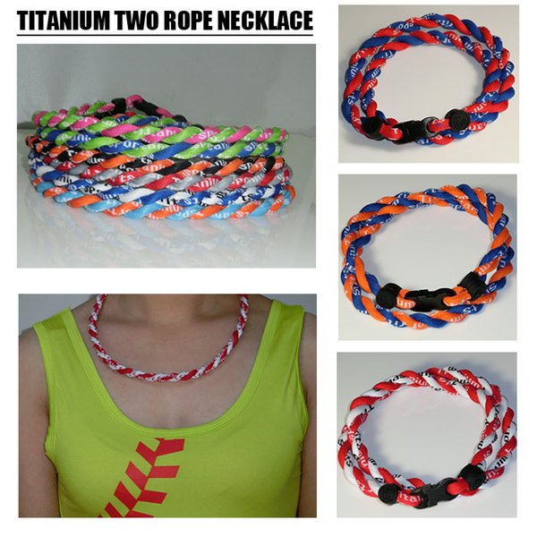 Neue Titan geflochten 3 Seilen Tornado Halsketten für SPORT Fußball Baseball Softball Mädchen Mutter 100er CNY84