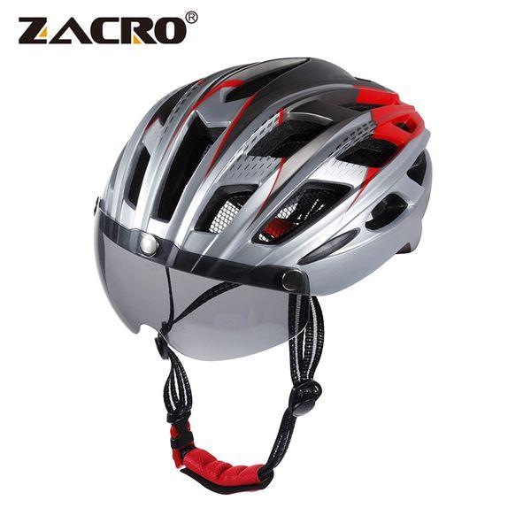 Zacro Cycling Helmet EPS Windproof Lenses Integrally-molded Bicycle Helmet Men MTB Bike Ciclismo