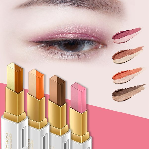 Two-color eye shadow silky professional warm matte shine eye shadow glitter makeup matte lasting makeup