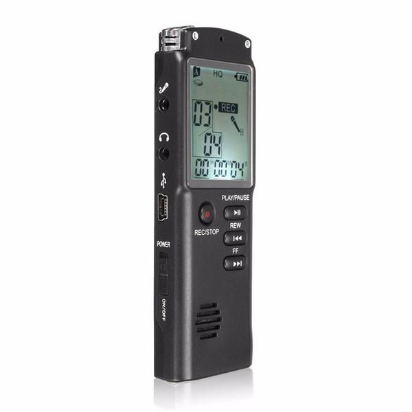 Nuevo portátil 8GB LCD Audio digital Grabadora de voz dictáfono Reproductor de MP3 recargable con auricular Micrófono incorporado