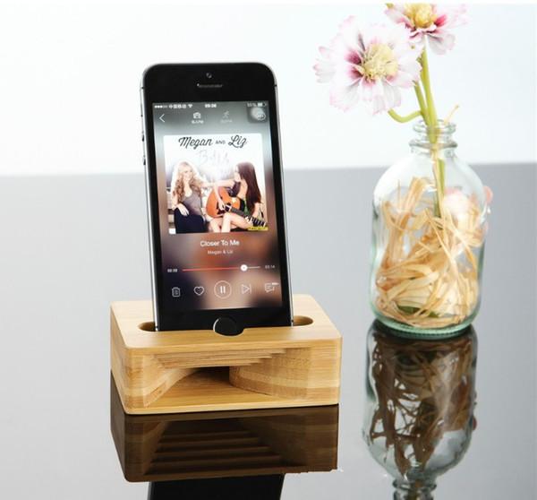 Holz Ständer UI Universal Faul Halter Bambus Sprachverstärker Holz Tablet Halter Für iPhone Lautsprecher Station Lautsprecher Halterung LLFA