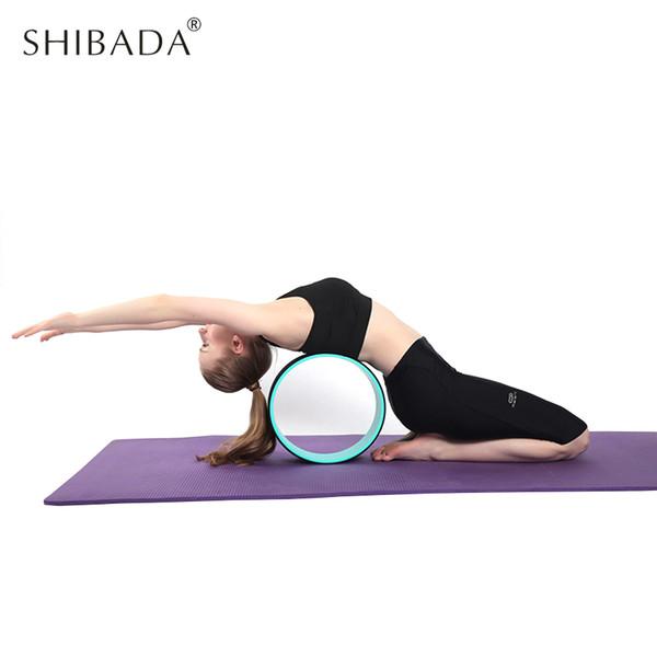 Círculo de Yoga Yoga Forma de Cintura de La Rueda ABS Pilates Anillo Círculo Mágico Gym Entrenamiento Herramienta de Entrenamiento de Espalda Home Slimming Fitness Equipment