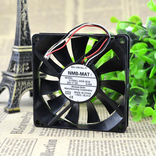 NMB 8015 için 8 cm 24V0.09A çift bilyalı invertör / fotokopi fan 3106KL-05W-B39