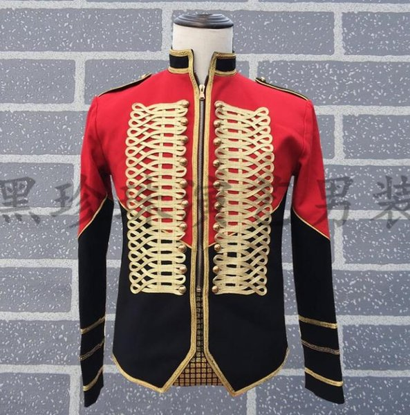 Men Suits Designs Personality Stage Costumes For Singers Men Stand Collar Blazer Dance Clothes Jacket Star Style Dress Punk