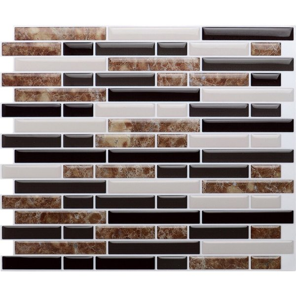 Free Shipping Hot Sale 4 Pieces Peel and Stick Wall Tiles 10.5''x10'' 3D Wall Sticker Wall Paper Kitchen Backsplash Tile