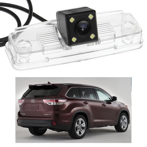 New 4 LED Car Rear View Camera Reverse Backup CCD fit for Toyota Highlander 2014-2016 2015